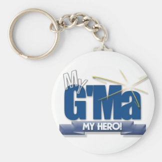 G'Ma My Hero! Great gifts for Grand Mothers! Keychain