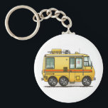 "GMC Motor Home RV Keychain<br><div class=""desc"">Bless those that see the world from the windows of an RV! Like the rugged, stalwart folks that crossed the continent in covered wagons, these individuals today settle in every nook and crany of this great land. RVer hearts are as big as the outdoors and as warm as the campfires...</div>"