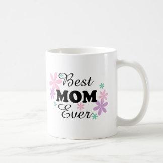 GMfl Best Mom Ever Black/Multi-Color On White Mug