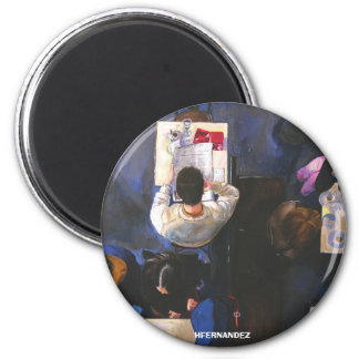 GMinteriordecafe, HFERNANDEZ 2 Inch Round Magnet