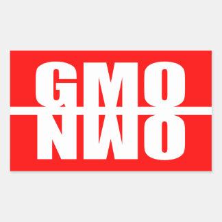 GMO AHORA RECTANGULAR PEGATINAS