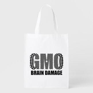 GMO Brain Damage Reusable Grocery Bag