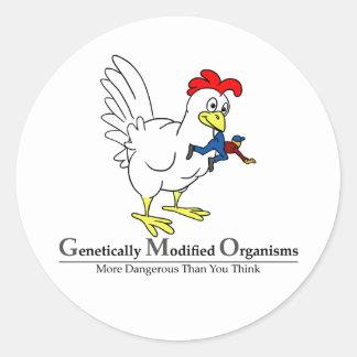 GMO Chicken Classic Round Sticker