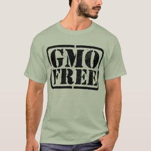 GMO Free - Black T-Shirt