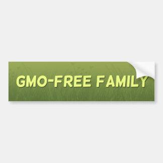 GMO-Free Family bumper sticker