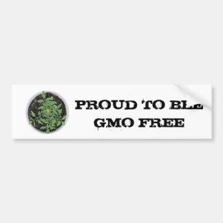 GMO FREE Heirloom Tomato Plant Peace Sign Bumper Sticker