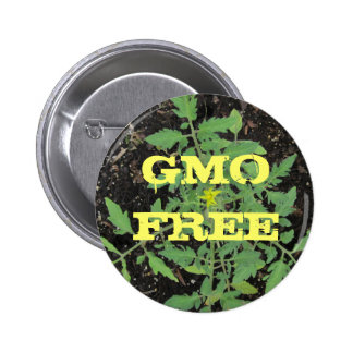 GMO FREE Heirloom Tomato Plant Peace Sign 2 Inch Round Button
