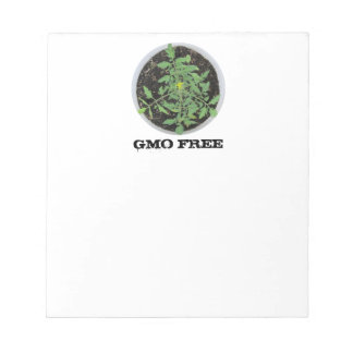 GMO FREE Heirloom Tomato Plant Peace Sign Notepad