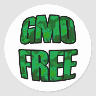 GMO Free in Green Stickers