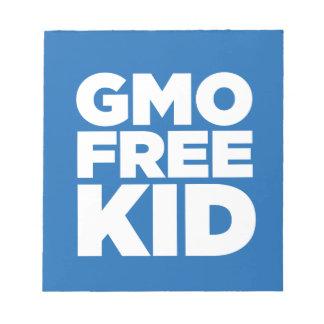 GMO FREE KID (BLUE) NOTE PAD