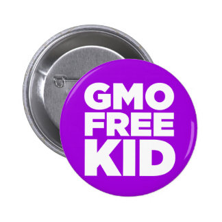 GMO FREE KID (PURPLE) PINBACK BUTTON