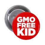 GMO FREE KID (RED) 2 INCH ROUND BUTTON