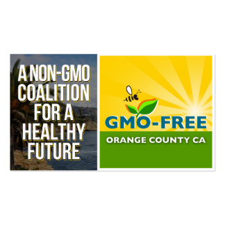 GMO-Free Orange County CA Information Card Double-Sided Standard Business Cards (Pack Of 100)