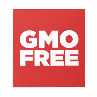 GMO FREE (RED) NOTE PAD
