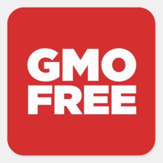 GMO FREE (RED) SQUARE STICKER
