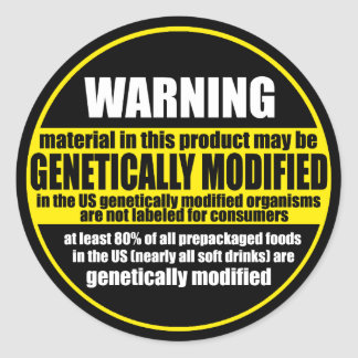 GMO (genetically modified organism) warning label