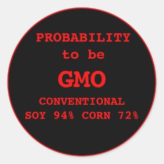 GMO Label Classic Round Sticker