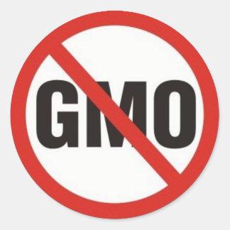 GMO libera Pegatina Redonda