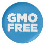 GMO LIBRE (AZUL) PLATO PARA FIESTA