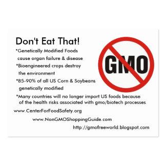 ¡GMO-Libre, no coma eso! , *Genetically Modifie… Tarjetas De Visita Grandes