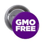 GMO LIBRE (PÚRPURA) PIN REDONDO DE 2 PULGADAS