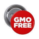 GMO LIBRE (ROJO) PINS