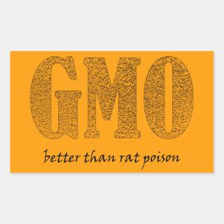 GMO - råttgift del än del bättre Pegatina Rectangular