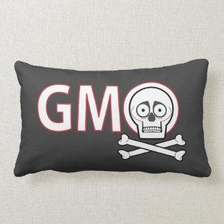 GMO Skull and Bones Throw Pillow