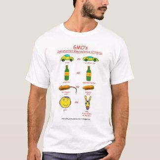 GMO's Sustantial Equivalence Criteria T-Shirt