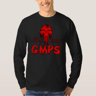 gmps red skull skullwing logo t shirt