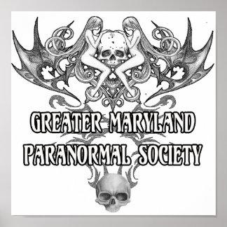 gmps skull wings logo poster