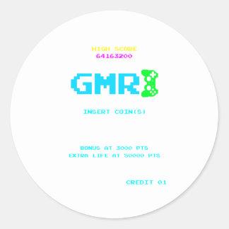 GMR - NMH Gamer Gaming Hi Score Video Games Classic Round Sticker