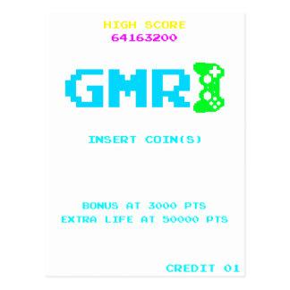 GMR - NMH Gamer Gaming Hi Score Video Games Postcard