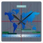 GMT del reloj del Timezone de las divisas basado