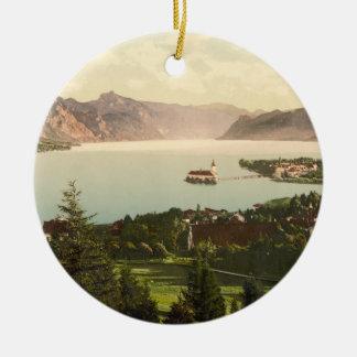 Gmunden, Upper Austria Double-Sided Ceramic Round Christmas Ornament