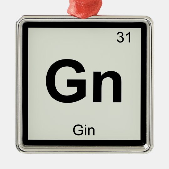 Gn gin chemistry periodic table symbol metal ornament zazzle gn gin chemistry periodic table symbol metal ornament urtaz Gallery