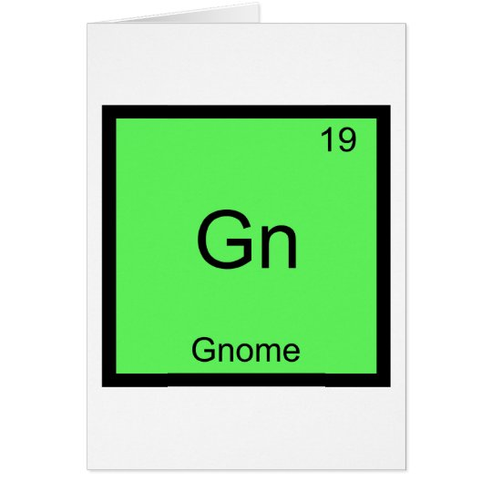 Gn - Gnome Chemistry Periodic Table Symbol Card