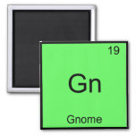 Gn - Gnome Funny Chemistry Element Symbol T-Shirt 2 Inch Square Magnet