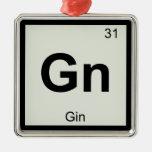 GN - Símbolo de la tabla periódica de la química d Ornamento De Reyes Magos
