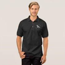 GN XXXVII black polo with white logo