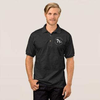 GN XXXVII black polo with white logo