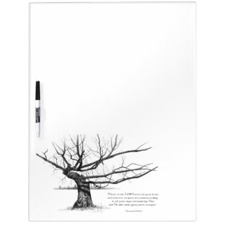 Gnarly Old Tree: Bible Verse: Proverbs: Pencil Dry-Erase Board