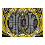 Gnarly superfly en plata y oro invitación 12,7 x 17,8 cm