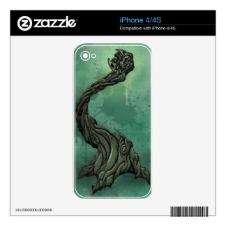 Gnarly Tree and Crescent Moon Decal For The iPhone 4
