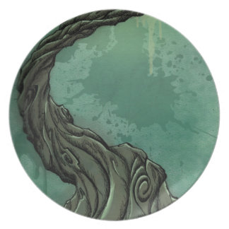 Gnarly Tree and Crescent Moon Dinner Plate