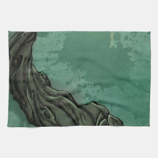 Gnarly Tree and Crescent Moon Hand Towels