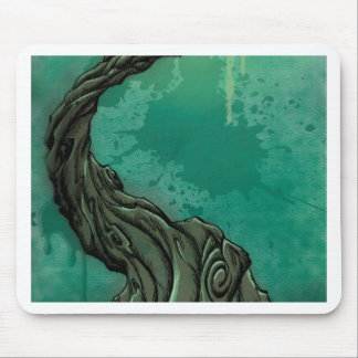 Gnarly Tree and Crescent Moon Mouse Pad