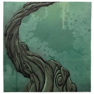 Gnarly Tree and Crescent Moon Napkin