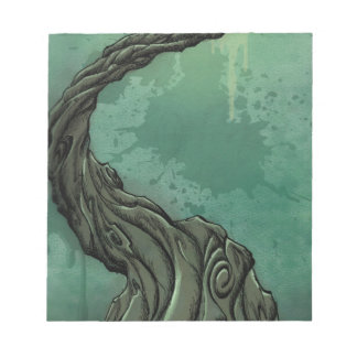 Gnarly Tree and Crescent Moon Notepad