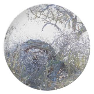 Gnarly Tree Melamine Plate